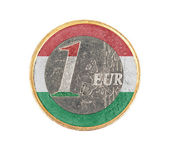 Euro coin, 1 euro — Zdjęcie stockowe