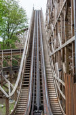 Large wooden rollercoaster — Stock Photo