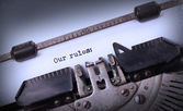 Vintage inscription made by old typewriter — Stockfoto