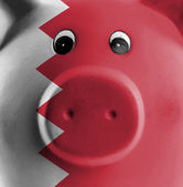 Unique pink ceramic piggy bank — Stock Photo