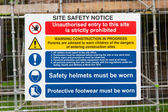 Construction Signs building site — Stock Photo