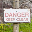 Danger Keep Clear — Stock Photo #51211475
