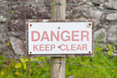 Danger Keep Clear — Foto Stock