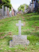 Very old gravestone for a child's grave — Stock Photo