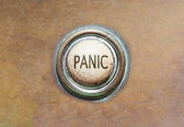 Old button - panic — Stock Photo