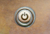 Old button - power — Stock Photo