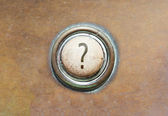 Old button - ? — Stock Photo