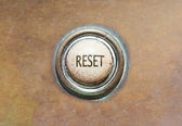Old button - reset — Stock Photo