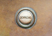 Old button - download — Stock Photo