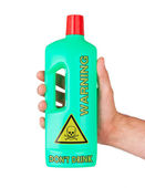 Plastic bottle cleaning-detergent, poisonous — Stock Photo