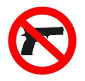 No weapons sign — Stock Vector