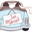 Just married — Vector de stock #28456937