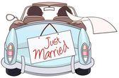 刚结婚 — 图库矢量图片