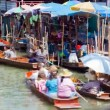 Timelapse - Floating Market in Thailand — Stock Video