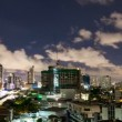Timelapse - City at night with cloudscape under moonlight — Stock Video