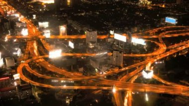 Timelapse - Highway from above — Stock Video #12592238