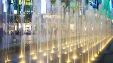 Timelapse - View of the fountain of Siam square in Bangkok — Stock Video