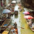 Stock Video: Timelapse - Floating Market in Thailand