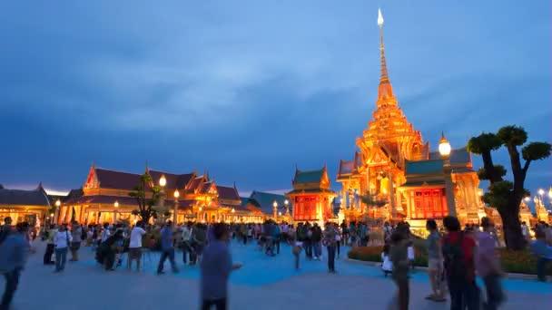 Timelapse - Bangkok Temple at Sunset — Vidéo