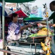 Stock Video: Timelapse - Street vendor in Kaoh Sroad, Bangkok