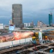 Panning Timelapse of Bangkok City Skyline at Sunset — Stock Video