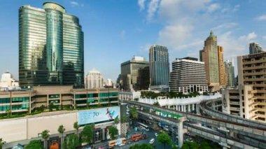 Timelapse Bangkok City Skyline — Stock Video