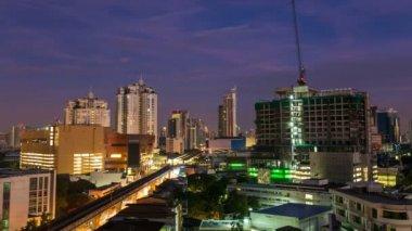 Time Lapse - Bangkok city at Sunrise — Stock Video