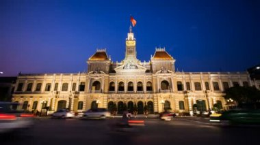 Timelapse Vietnam HCMC City Hall — Stock Video