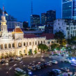 4k - 1080 - Timelapse Vietnam HCMC City Hall - Stock Photo