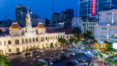 4k - 1080 - Timelapse Vietnam HCMC City Hall — Stok video