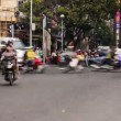Stock Video: HO CHI MINH CITY- FEBRUARY 2 : timelapse view of traffic in Ho Chi Minh city