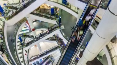 Shopping mall Timelapse — Stock Video