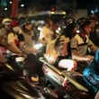 Stock Video: Night Traffic in Ho Chi Minh City, Vietnam