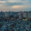 Stock Video: Timelapse of sunset on Ho Chi Minh City, Vietnam