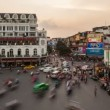 Stock Video: HANOI SUNSET TIMELAPSE - HOAN KIEM DISTRICT
