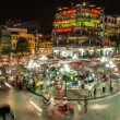 Stock Video: Time Lapse of traffic in HoKiem district in Hanoi, Vietnam