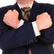Business man with hands — Stock Photo
