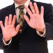 Businessman showing STOP — Stock Photo #12574348