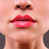 Beauty woman lips — Stock Photo