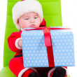 Kid holding gift box — Stock Photo