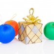 Gift box with christmas ball — Stock Photo