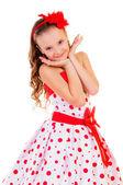 Pěkná blonďatá dívka — Stock fotografie