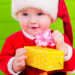 Kid in Santa Claus clothes — Stok fotoğraf