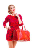 Woman with bag — Stock Photo