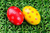 Hand-drawn Easter eggs — Stock Photo