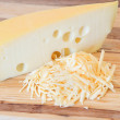 Chunk of Swiss Cheese — Stock Photo
