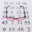 Reading eyeglasses and eye chart — Foto Stock