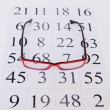 Reading eyeglasses and eye chart — Photo