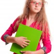Schoolgirl teen girl — Stock Photo