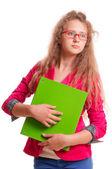 Schoolgirl teen girl — Stock Photo